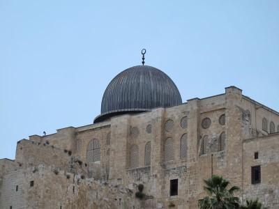 Купол древнейшей в мире Мечети аль-Акса (Масджид аль-Акса)