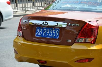 Номера гражданских автомобилей, такси и спецтранспорта оформлены одинаково