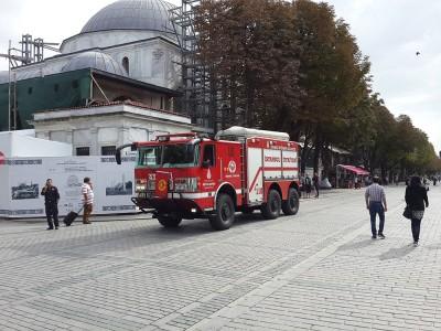 На пожарной машине