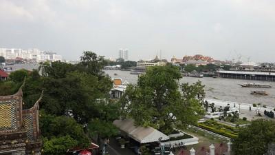Вид на Бангкок с храма Wat Arun