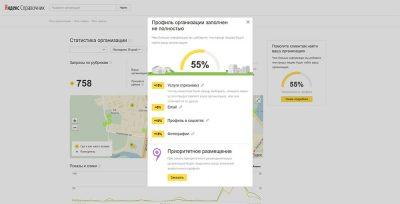 В разделе заполнения профиля компаний Яндекс.Справочника обнаружили вот это